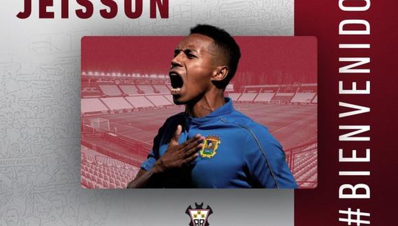 Jeisson Martínez firmó por dos temporadas con el Albacete del fútbol español. (Albacete)
