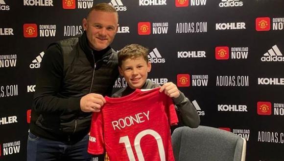 Kai Rooney tiene 11 años y se ha unido a las canteras del Manchester United. (Instagram)