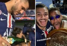 ¡Salud! Mauro Icardi llega al límite y prepara un fernet en el trofeo de campeón del PSG [VIDEO VIRAL]