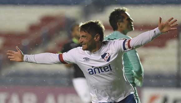 Gonzalo Bergessio marcó el primer gol para Nacional. (Foto: Conmebol).