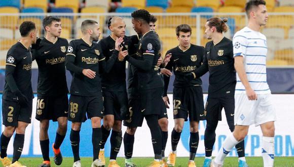 Barcelona goleó a Dinamo de Kiev por la Champions League 2020
