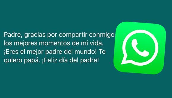 Celebra el Día del Padre con estas frases creativas que le puedes dedicar a papá por WhatsApp. (Foto: Depor)