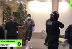 En medio de cánticos y aplausos: así fue la llegada de Perú a la concentración en Quito [VIDEO]