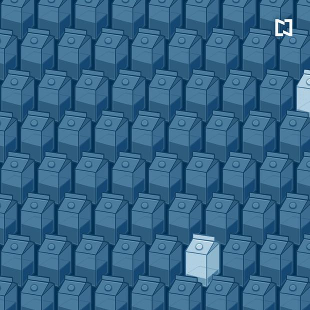 Aquí están las cajas de leche con menos contenido. (Foto: Noticieros Televisa)