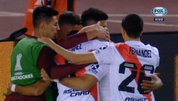 Borré puso el 2-0 de penal y River Plate saca ventaja en cuartos de Copa Libertadores. (Fuente: Fox Sports)
