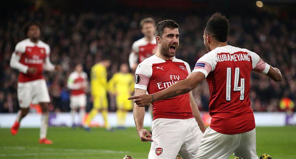 Arsenal goleó 3-0 al BATE Borisov y clasificó a octavos de final de Europa League 2019 (Getty)