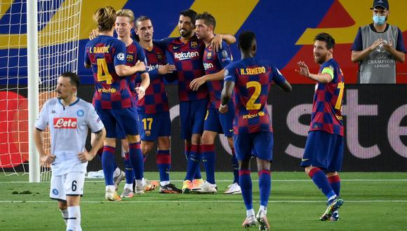 Barcelona vs. Napoli en Camp Nou por vuelta de octavos de la Champions League. (Foto: AFP)
