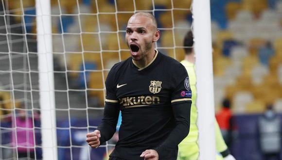 Barcelona vence 4-0 a Dinamo de Kiev con doblete de Braithwaite en Ucrania por la cuarta jornada de la UEFA Champions League.