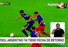 ¡Confirmado! el 30 de octubre vuelve el fútbol en Argentina
