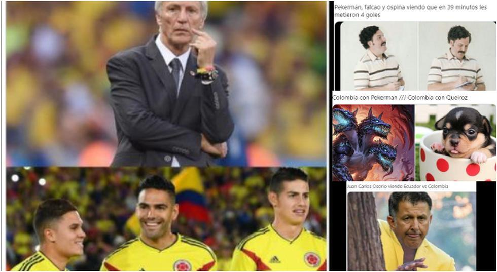 Los memes y reacciones de la goleada de Ecuador sobre Colombia. (MundoMemes/Twitter)