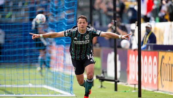 Javier Hernández arribó a Los Angeles Galaxy de la Major League Soccer luego de su paso por el Sevilla español (Foto: Getty Images)
