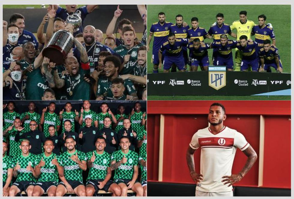 Los 32 equipos de la fase de grupos de la Copa Libertadores.