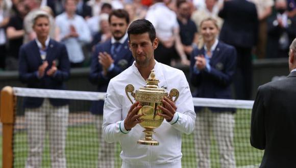 Novak Djokovic venció a Matteo Berrettini en la final de Wimbledon. (Foto: Wimbledon)