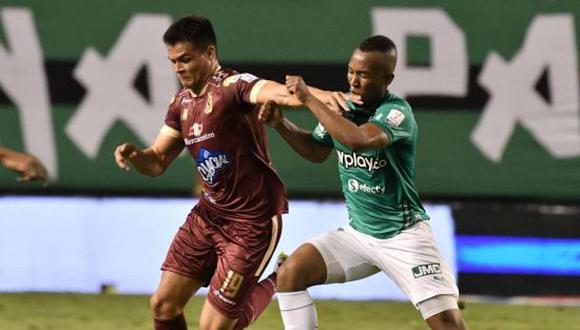 Deportes Tolima venció por 3-0 a Deportivo Cali por el partido de ida de la fase 1 de la Copa Sudamericana 2021. (Foto: Dimayor)