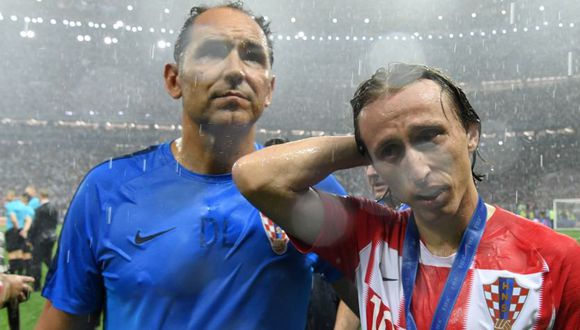 Luka Modric lamentó el resultado final de Croacia ante Francia en la final de Rusia 2018. (Foto: AFP).