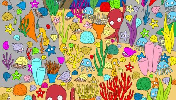 Reto viral: ¿puedes encontrar al pez oculto de la imagen que es tendencia en redes sociales? (Foto: Pinterest)