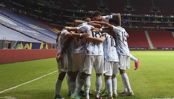 Argentina derrotó por la mínima diferencia a Uruguay, en partido por el grupo A de la Copa América. | Foto: AFP