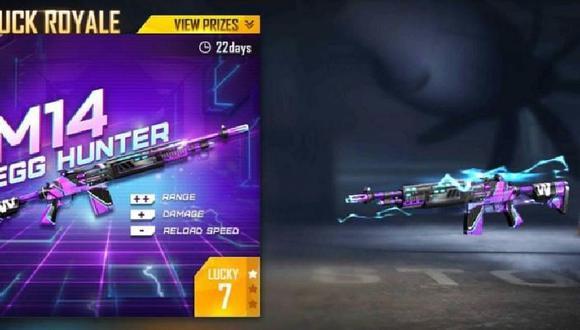Egg Hunter M14, nuevo skin de Free Fire