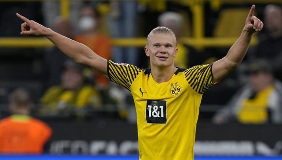 Erling Haaland tiene contrato con el Dortmund hasta el verano de 2024. (Foto: AP)