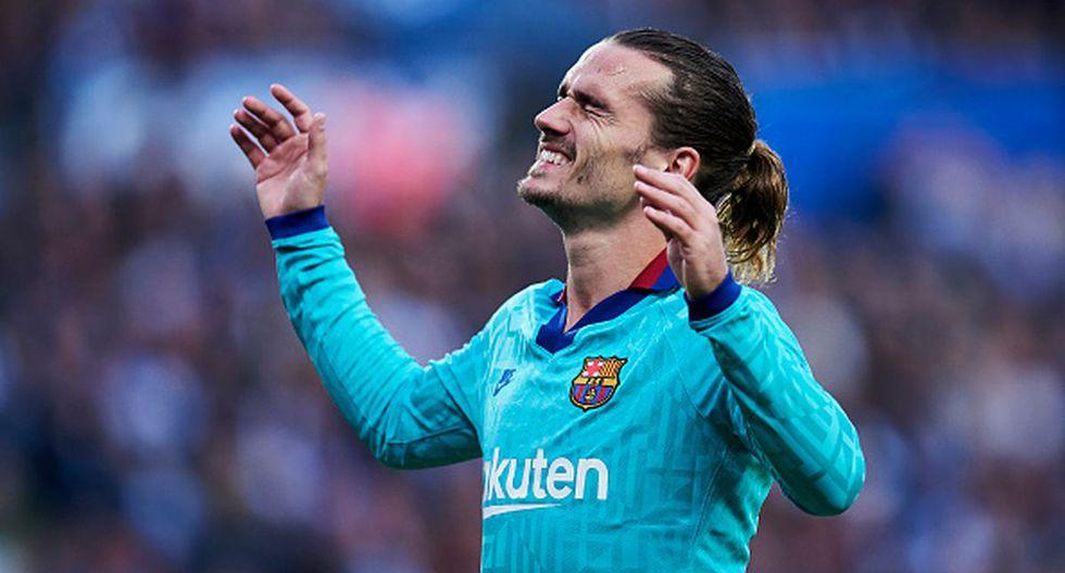 Antoine Griezmann anotó uno de los goles con los que el Barcelona igualó 2-2 con la Real Sociedad. (Foto: Getty Images)