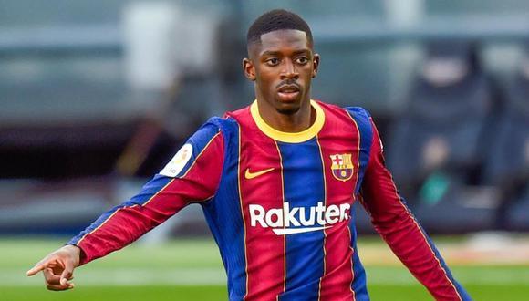 Ousmane Dembélé acaba contrato con el Barcelona en junio de 2022. (Foto: AFP)