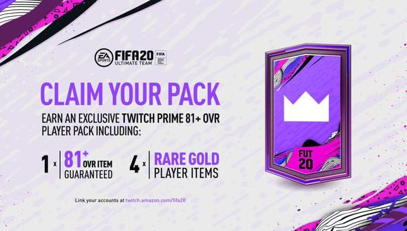 FIFA 20: Twitch Prime te ayudará a conseguir sobres gratis de Ultimate Team.