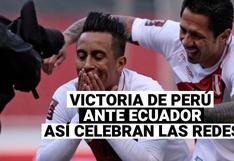 Eliminatorias Qatar 2022: Perú 2 Ecuador 1, así celebraron los peruanos en las redes