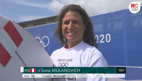Sofía Mulanovich quedó eliminada del surf en los Juegos Olímpicos Tokio 2020. (Captura: Marca Claro)