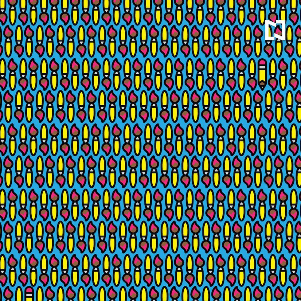 Busca entre los pinceles los dos lápices de este acertijo visual en el menor tiempo posible. (Fotos: Facebook/Noticieros Televisa)