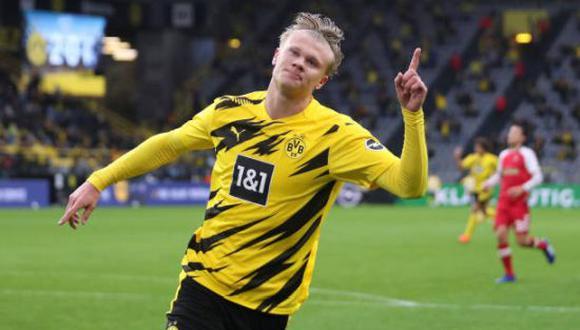 Erling Haaland es una de las figuras del Borussia Dortmund en la presente temporada. (Foto: Getty Images)