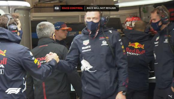 Max Verstappen se lleva el Gran Premio de Bélgica en una prueba suspendida. (Foto: F1)