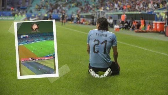 Edinson Cavani reclamó vía redes sociales el gol anulado a Nández. (Foto: Ovación).
