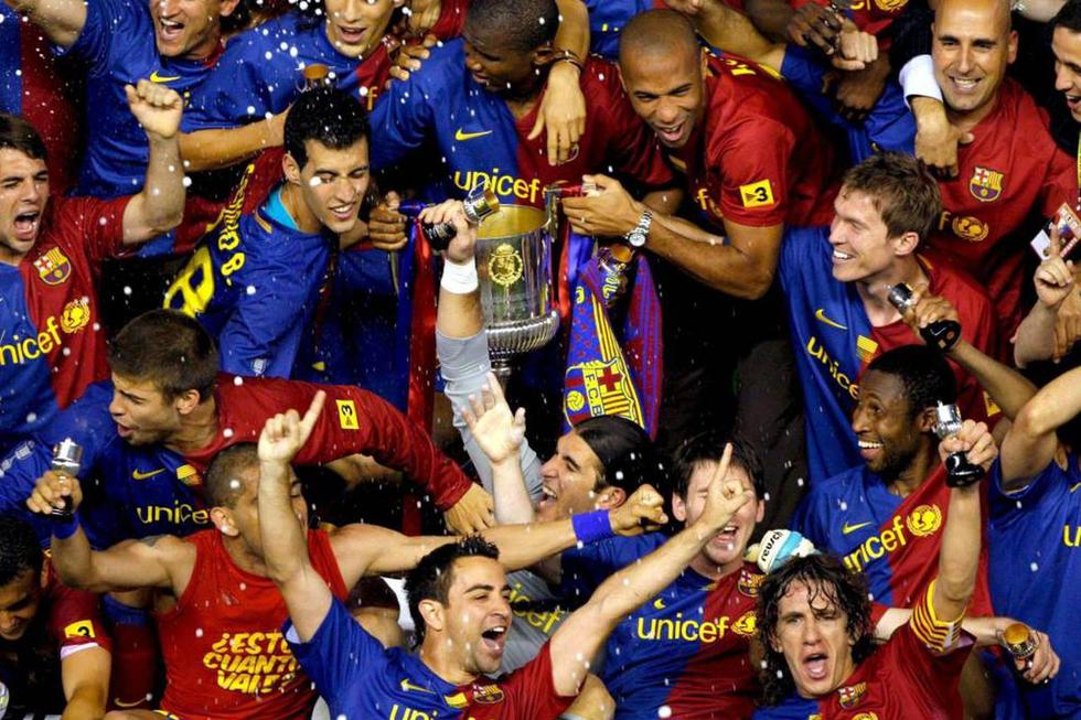 Este fue el primer 11 de Guardiola en Barcelona que ganó un título. (Fotos: Difusión)