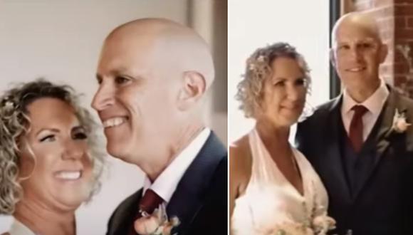 El momento en que un hombre con Alzhéimer se casa por segunda vez con su esposa. (Foto: NBC New York / YouTube)
