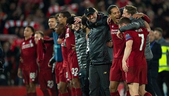 Liverpool llegó a la final de Champions League tras vencer 4-0 al Barcelona en Anfield. (Getty)
