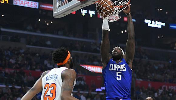 Montrezl Harrell haciendo una anotación para Los Angeles Clippers. (Foto: Getty Images)