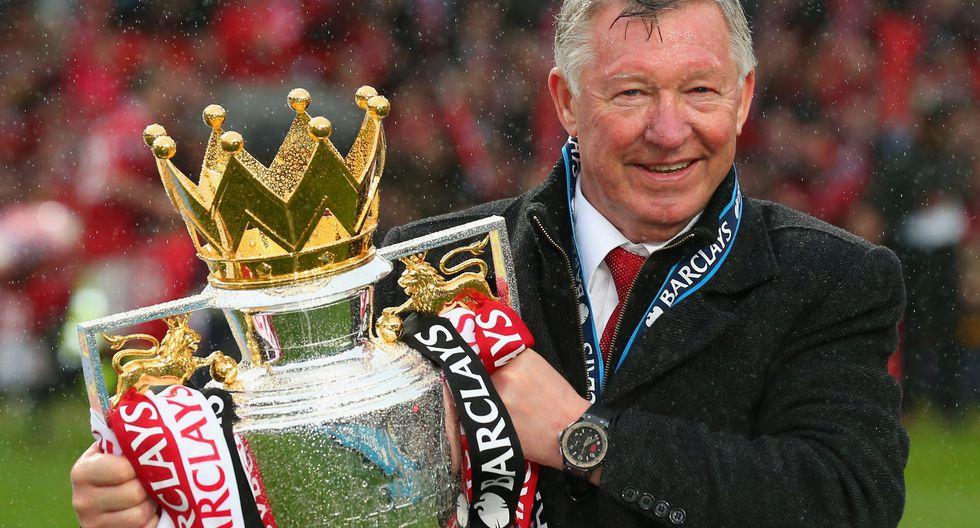 Sir Alex Ferguson, el entrenador con más títulos en la historia del fútbol. (Getty Images)