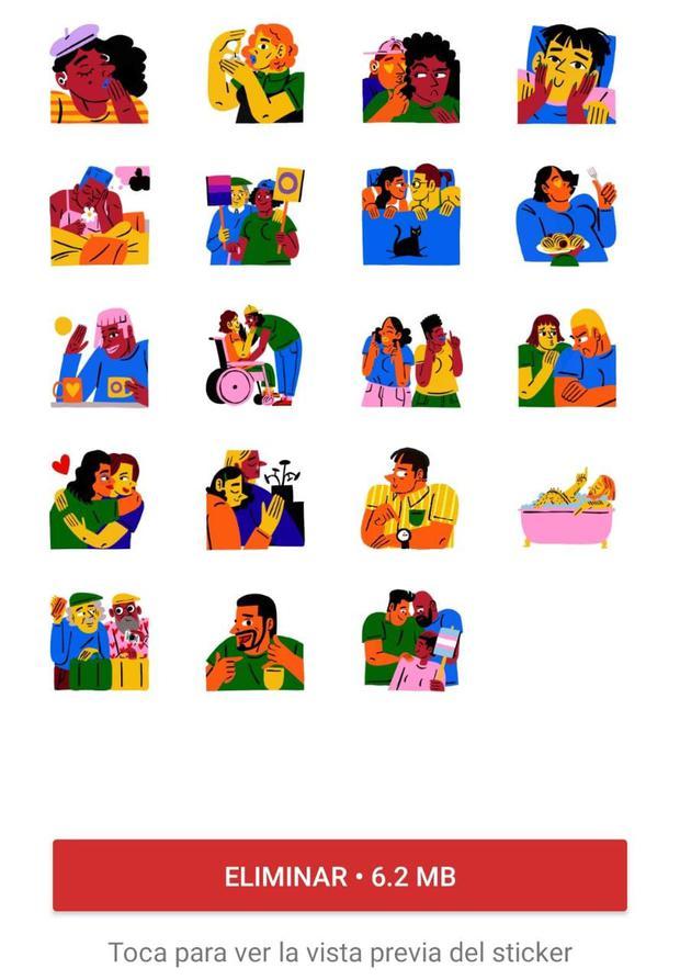 Paquete de stickers (Foto: WhatsApp / Mag)