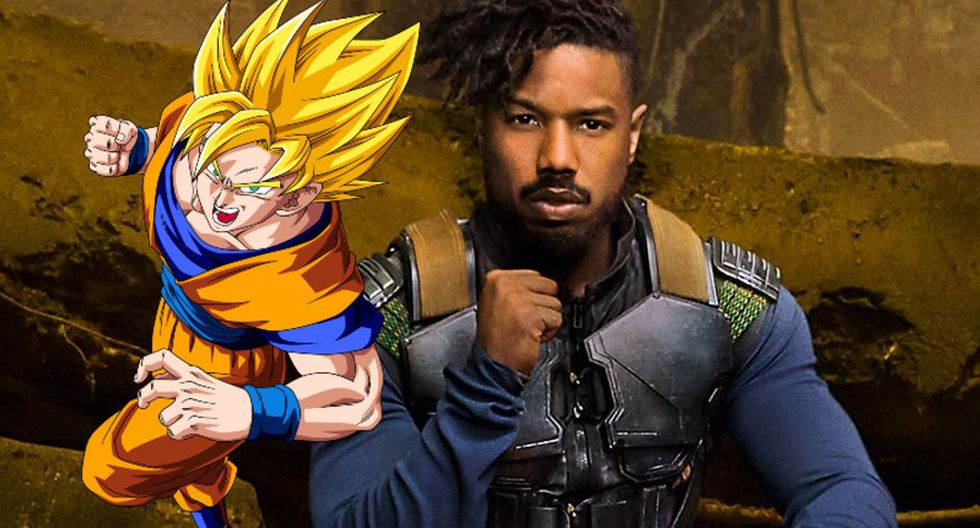 Dragon Ball Z y Killmonger (Montaje)