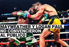 ¡No hubo nocaut! Floyd Mayweather y Logan Paul no convencieron al público tras su pelea de exhibición en Miami