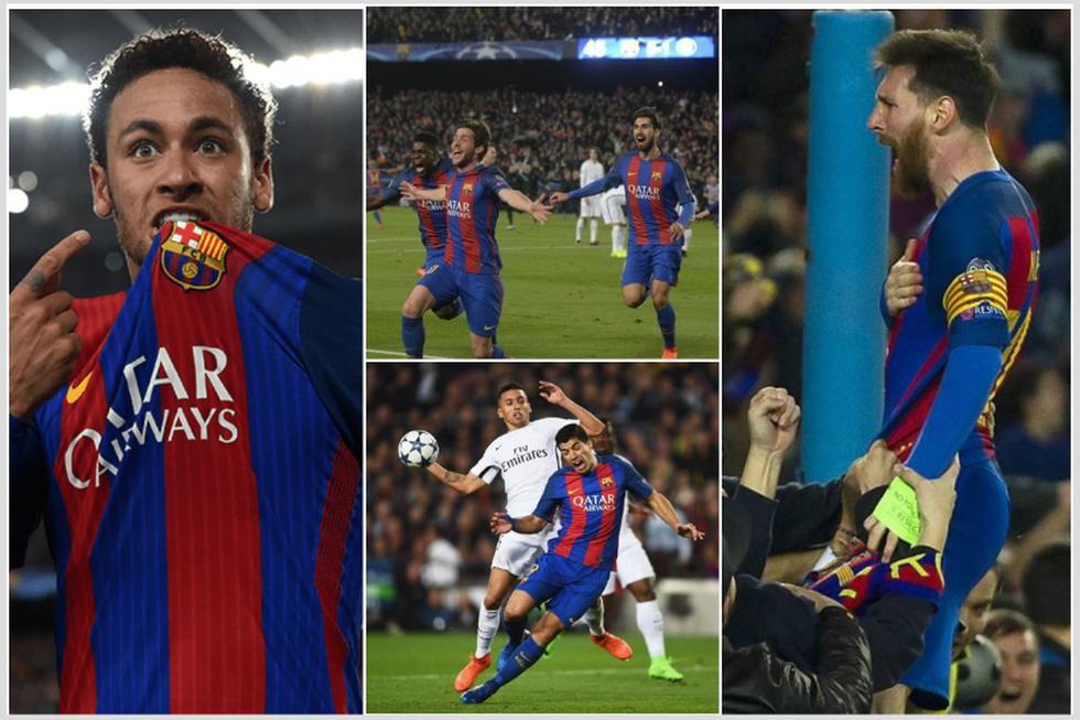 El equipo del Barcelona que logró la remontada ante PSG en 2017.