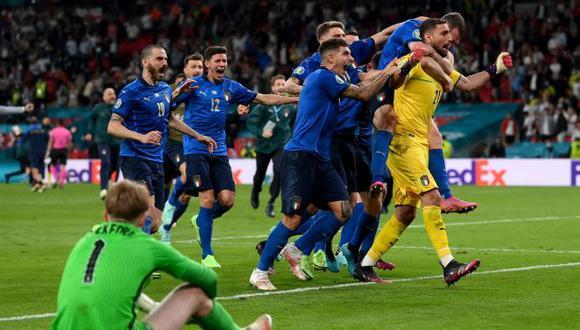 Italia vs. Inglaterra en Wembley por la final de la Eurocopa 2021. (Foto: AFP)