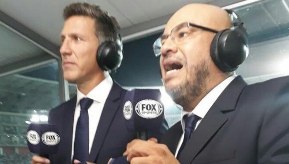 Peter Arévalo respondió a las críticas tras su narración en FOX Sports