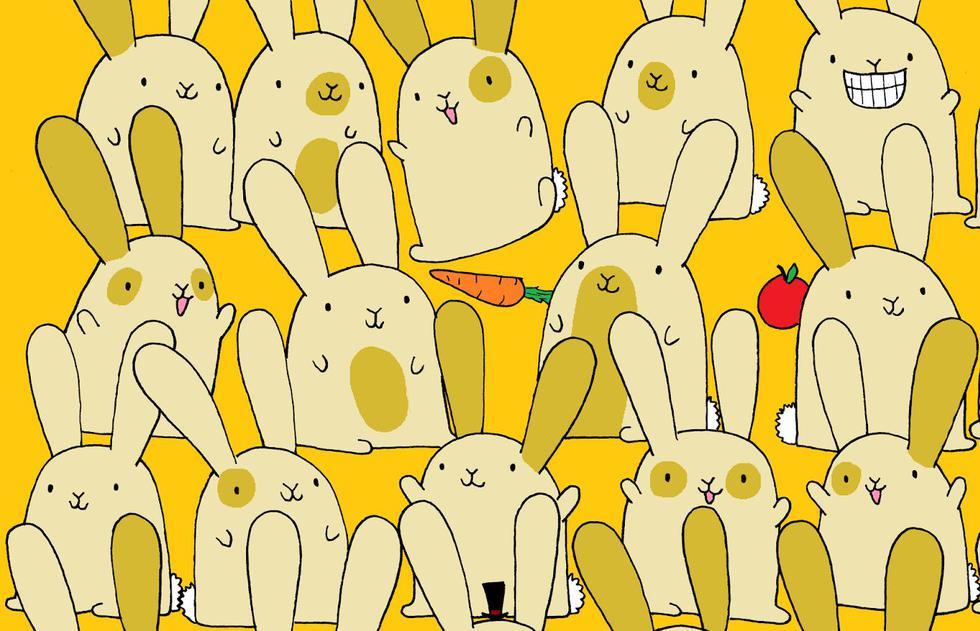 Resuelve el acertijo visual que pide ubicar al conejo sin pareja de este reto viral. (DuDolf)
