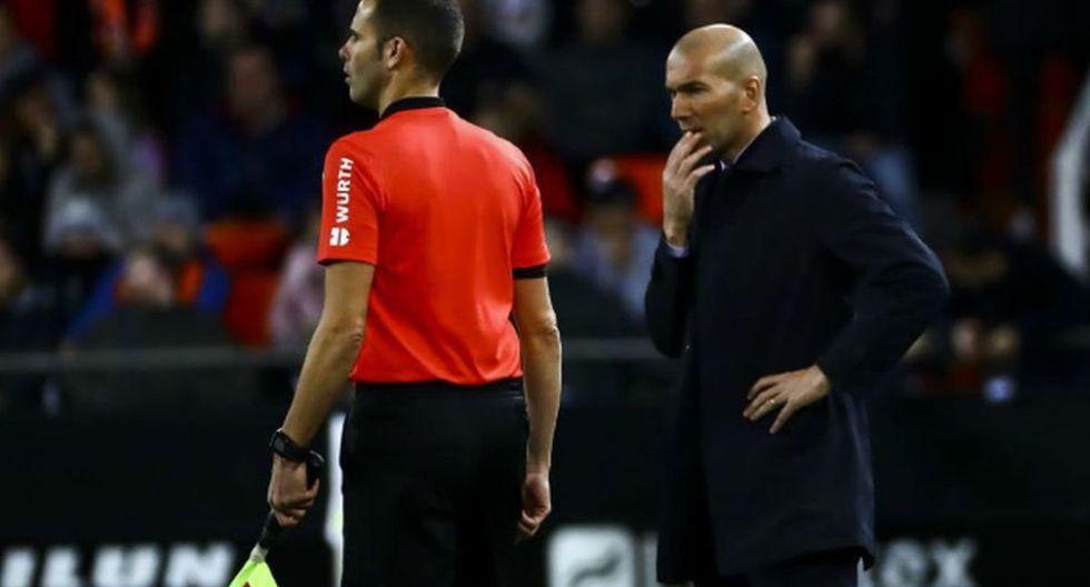 Zinedine Zidane analizó el empate del Real Madrid ante Valencia en el marco de la jornada 17 de LaLiga Santander 2019-20. (Foto: Marca)