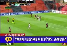 Matías Aguirregaray estrella el balón al palo con el arco vacío