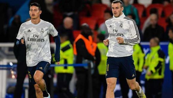 James Rodríguez y Gareth Bale no fueron convocados por Zinedine Zidane para el duelo ante el City por la Champions. (Foto: EFE)