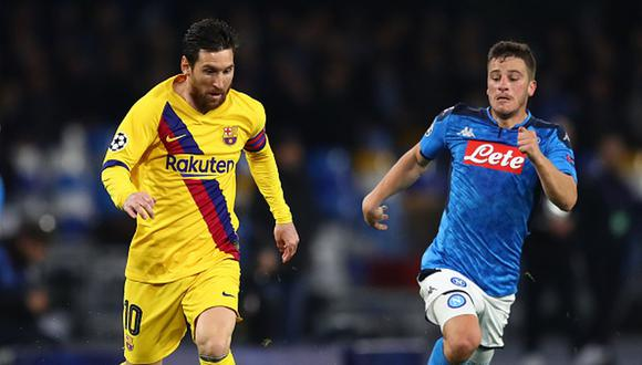Barcelona empató 1-1 en casa del Napoli por octavos de final de la Champions. (Foto: Getty Images)