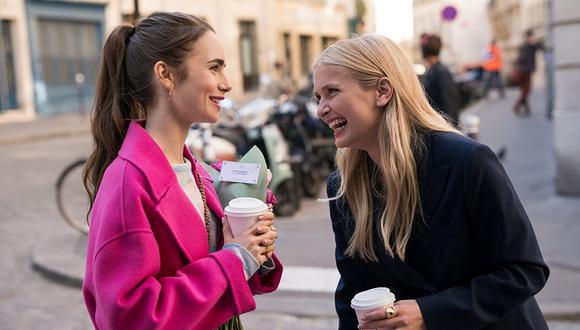 """¿Camille y Emily seguirán siendo amigas en la segunda temporada de """"Emily en París""""? (Foto: Netflix)"""