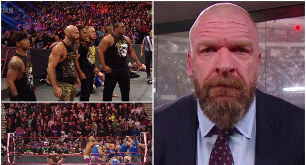 El Raw de Boston sufrió la invasión de SmackDown y de NXT, estos últimos liderados por Triple H. (Foto: Getty Images)